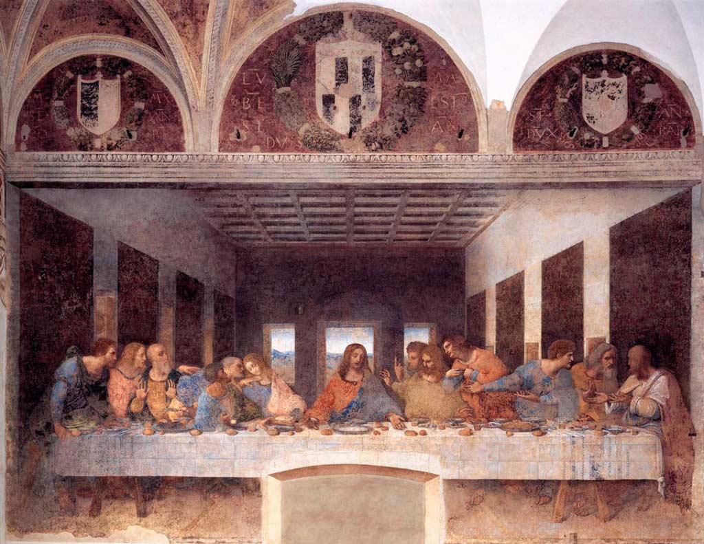 Леонардо да Винчи краткая биография Русская историческая  Леонардо да Винчи Тайная вечеря