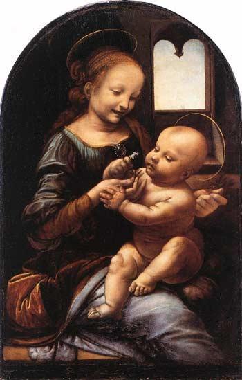 Леонардо да Винчи. Мадонна с цветком (Мадонна Бенуа)