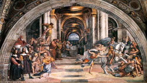 Рафаэль. Изгнание Илиодора из Храма
