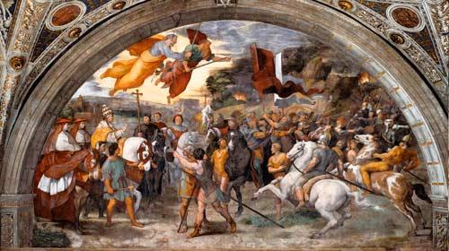 Рафаэль. Встреча Льва I и Аттилы