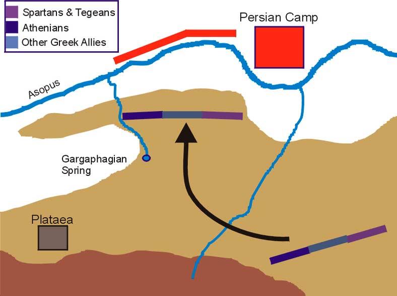 Битва при Платеях. Карта