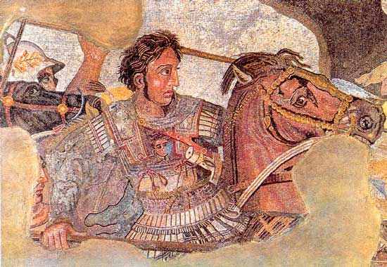 Александр Македонский в битве при Иссе