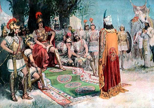 Александр Македонский и царь Пор