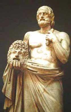 Еврипид с актёрской маской