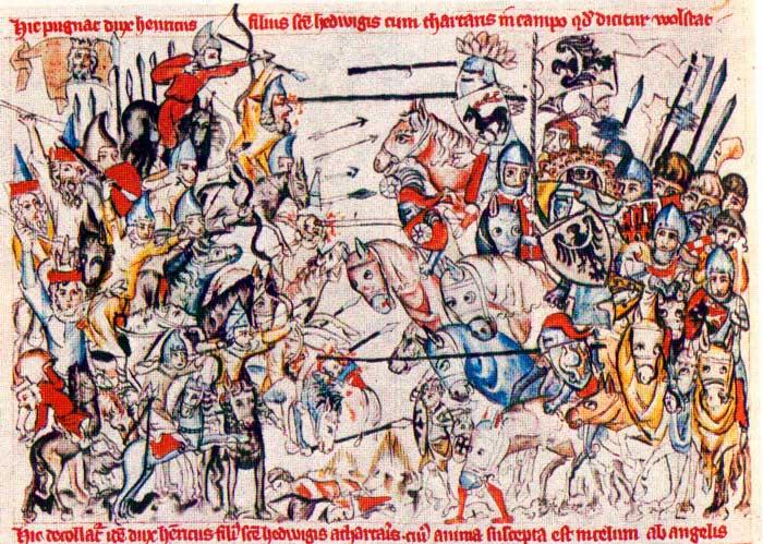 Битва с монголо-татарами при Лигнице