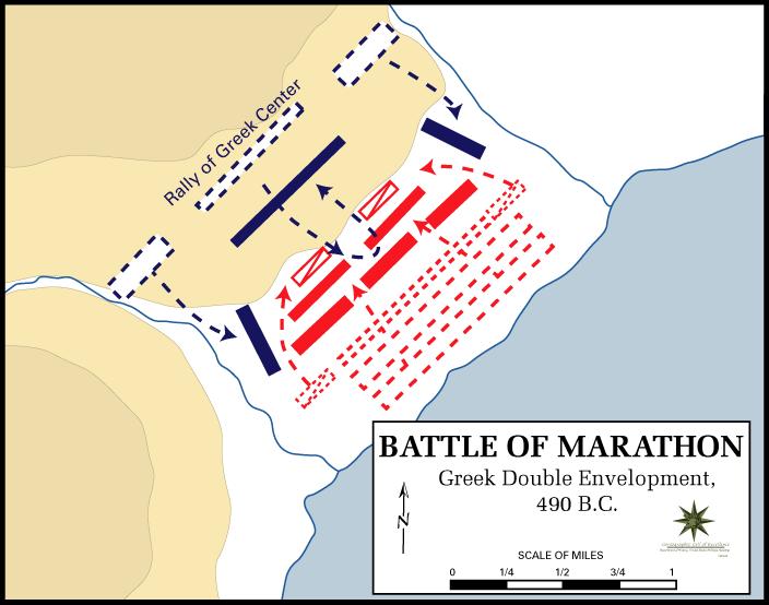 Марафонская битва. Схема