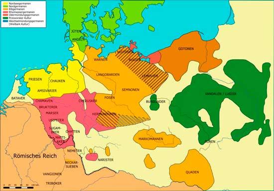Расселение древнегерманских племен