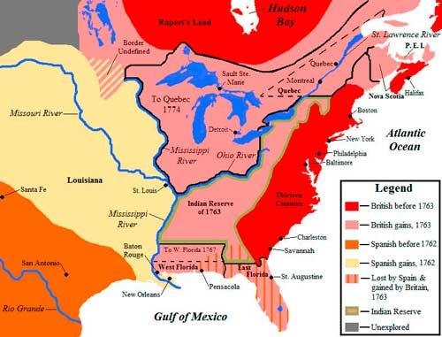 Результаты Семилетней войны в Северной Америке