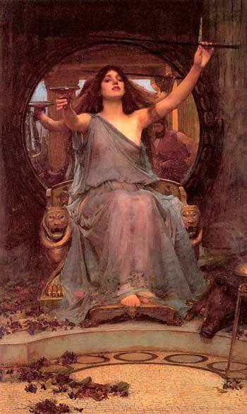 Цирцея протягивает Одиссею чашу