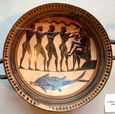 Одиссей ослепляет циклопа Полифема