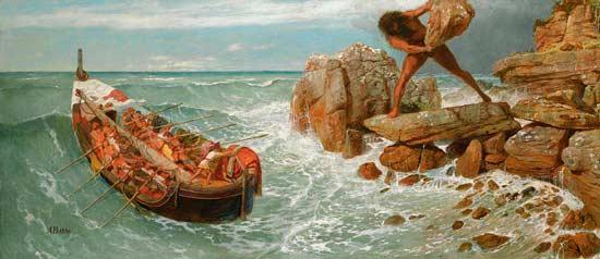 Бегство Одиссея с острова Полифема
