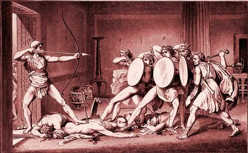 Одиссей и женихи Пенелопы