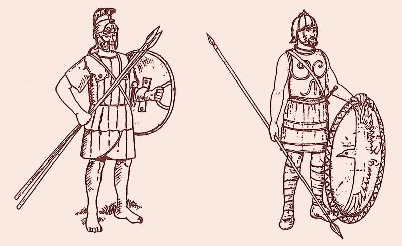 Воины армии Ксеркса