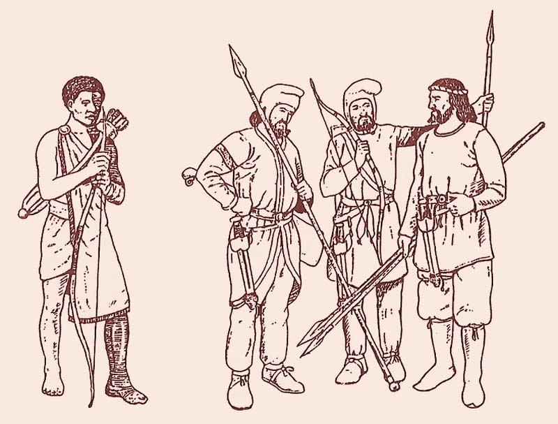 Бойцы войска Ксеркса