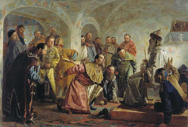 Иван Грозный и опричники