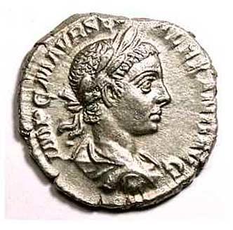 Монета Александра Севера