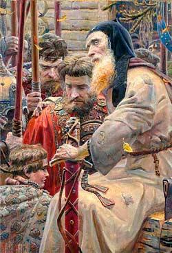 Благословение Сергия Радонежского на Куликовскую битву