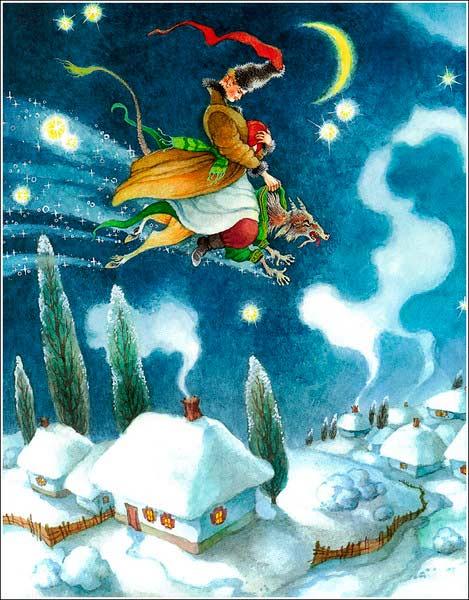 Гоголь николай ночь перед рождеством (художник е. Сахновская.