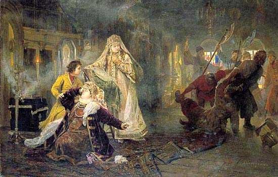 стрелецкий бунт 1682 - гибель ивана нарышкина