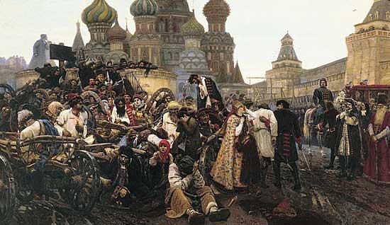 В феврале 1699 тогда в москве казнено