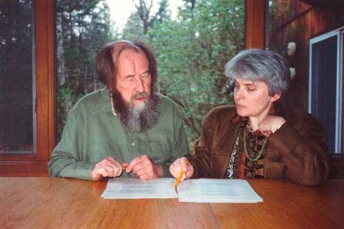 Александр равно Наталья Солженицыны
