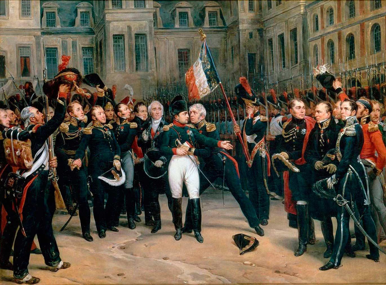 Наполеон Бонапарт биография Русская историческая библиотека Прощание Наполеона с гвардией 1814